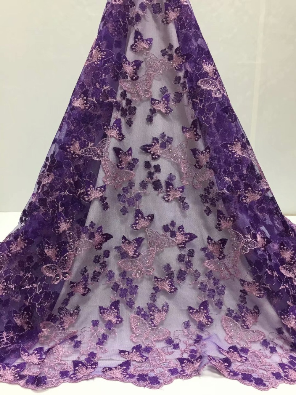 Latest French Nigerian Laces Fabrics High Quality Tulle African Laces Fabric Wedding African French Tulle Lace    YDMAY114Latest French Nigerian Laces Fabrics High Quality Tulle African Laces Fabric Wedding African French Tulle Lace    YDMAY114