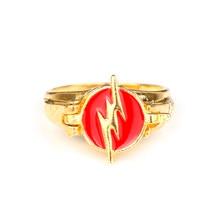 Mqchun flash anéis ouro cor filme jóias para homens anel feminino (pode ser aberto)