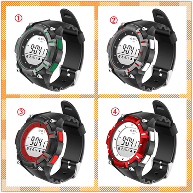 Leegoal WY08 Waterproof Wrist Watch Swim Sport Clock Fintess Tracker Pedometer Remote Camera For iOS Android