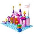 100 PCS Pink Princess & Prince Castle Partículas Grandes de Construção blocos de Definir Melhor Presente para As Crianças Meninas Compatível com LEGOs Duplo