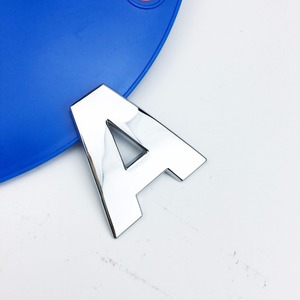 Image 4 - Car Styling 3D Metal personality Letters Number Emblem Chrome DIY Car Sticker Badge Auto Logo Accessories Motorcycle sticker