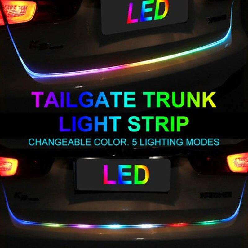 Car LED Strip Lighting Rear Trunk Tail Light Dynamic Streamer Brake Turn  Signal Reverse Leds Warning Light Signal Lamp1 2M1 5M (Hot Promo Christmas