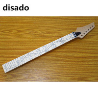 disado 24 Frets reverse headstock maple Electric Guitar Neck maple fingerboard inlay tree of lifes Guitar accessories parts