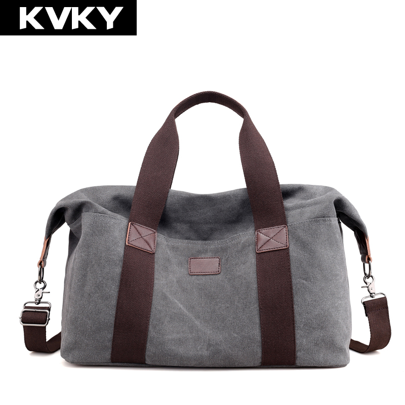 KVKY Men Canvas Handbags Travel Shoulder Bag Large Capacity Solid Casual Crossbody Bag Vintage Men Messenger Bag Male Tote Bolsa augur large capacity men women crossbody bag for pad handbags canvas shoulder bag messenger bag