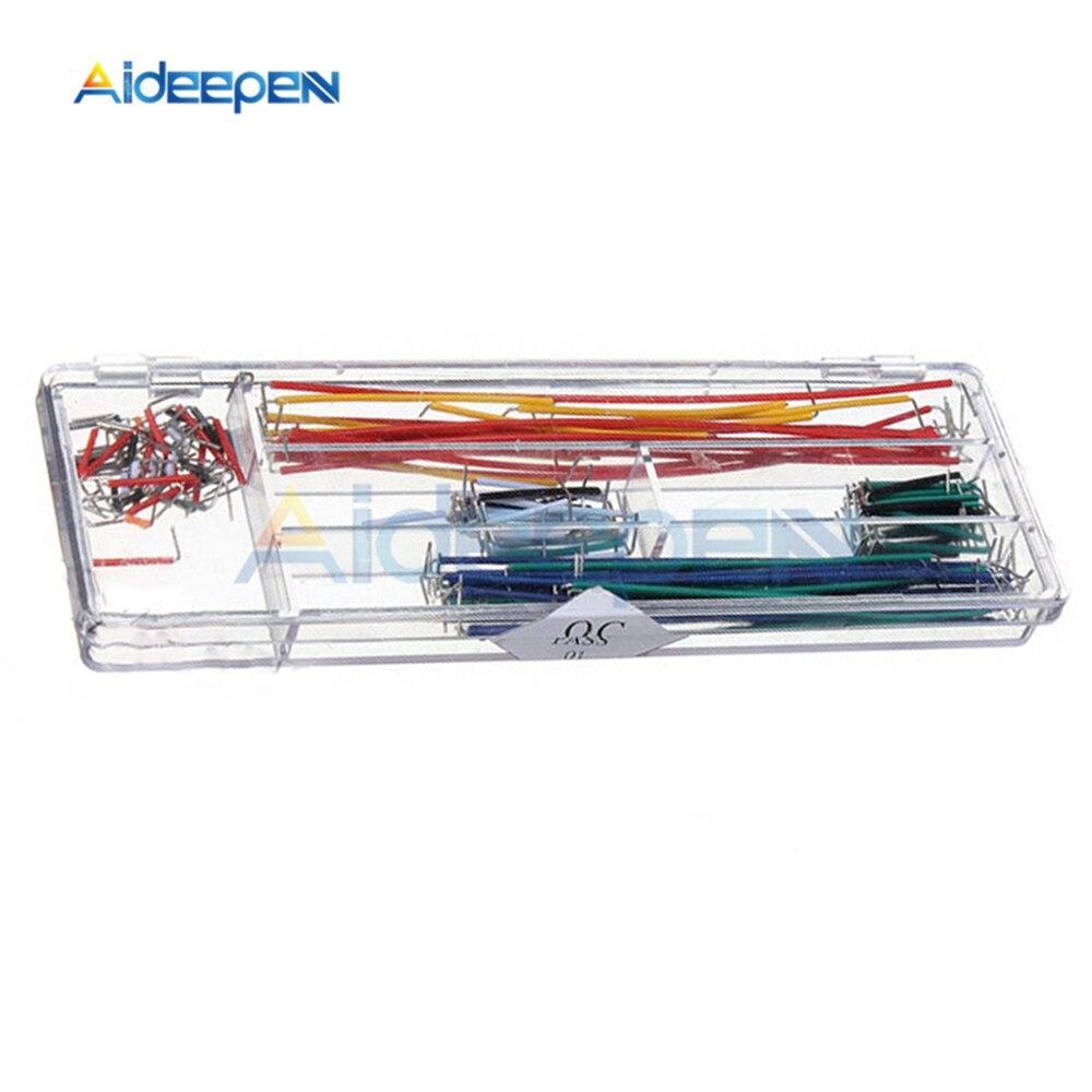 140 шт., макетные перемычки Без припоя, макетные провода 22 AWG, набор кабелей с коробкой для Arduino 165x55x10 мм