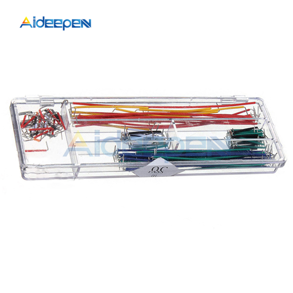 140x Solderless Breadboard Jumper Cable Wire Kit Box Shield 22 AWG For Arduino