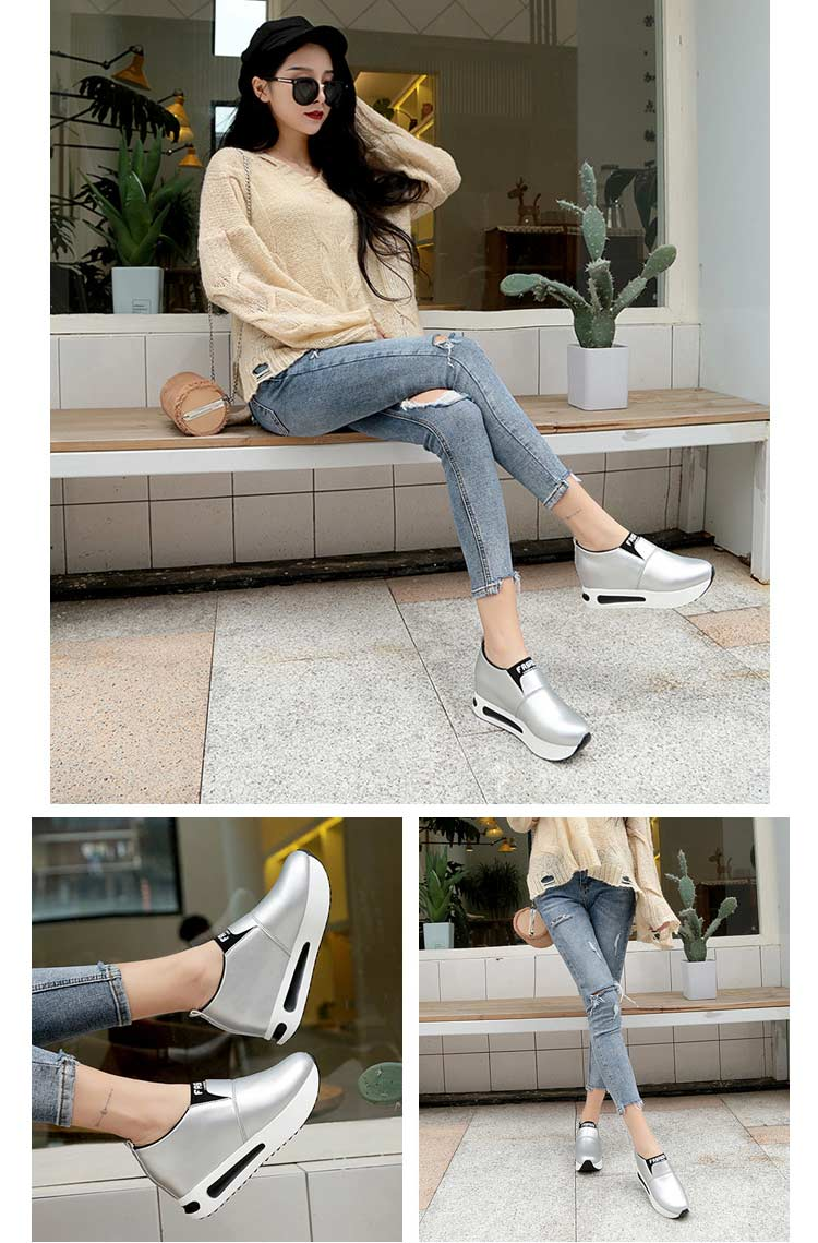 Vulcanize shoes women casual shoes 2019 new fashion solid pu women sneakers slip-on breathable shoes woman zapatos de mujer (7)