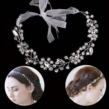 FORSEVEN Crystal Pearl Hairband złoty srebrny kolor gałęzie kwieciste opaski na głowę dla kobiet ślub panny młodej tiara biżuteria do włosów tanie i dobre opinie Ze stopu cynku Moda Kryształ Hairbands TRENDY Hairwear 29918 PLANT