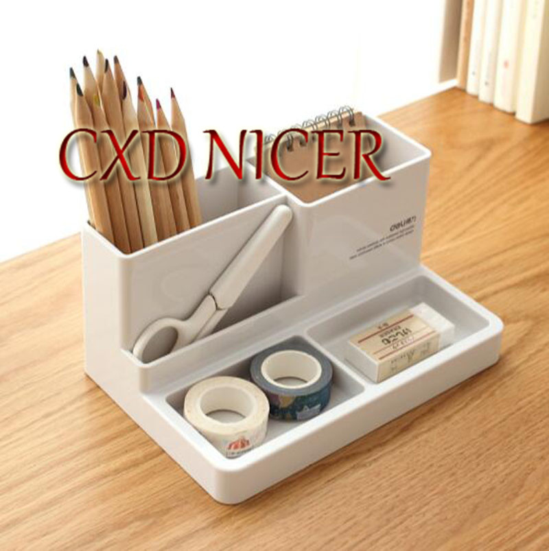 Efficient Multi - Functional Pen Holder Simple Plastic Creative Fashion Stationery Office Desk Storage Box Dd972 fashion diy desk storage box storage bag pen container multi function sundry woodiness storage box