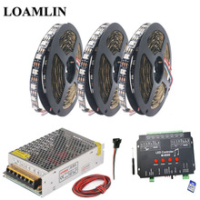 WS2812B WS2812 RGB Led Strip Light Tape M-8000 Music RGB Led Controller DC5V Led Transformer Kit