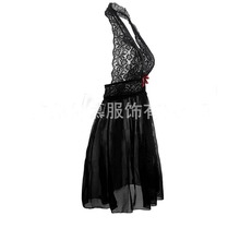 Fcare 2017 plus size XL, XXL, XXXL, XXXXL,5XL,6XL dress+g string red black erotic sexy lingerie lace hot
