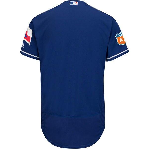 MLB Mens Texas Rangers Baseball Alternate Royal 2016 Spring Training Flex Base Authentic Collection Team Jersey