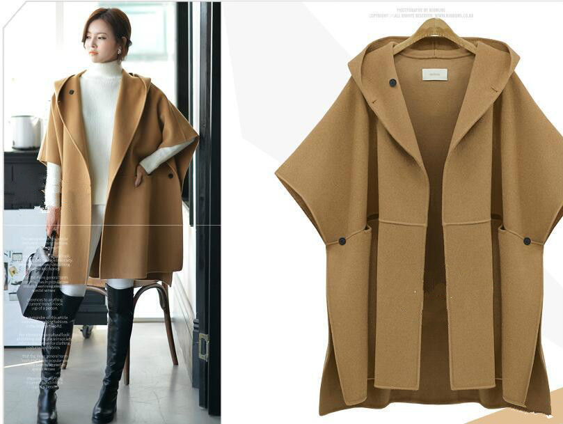 5xl femmes vêtements Costume-robe de Manteau De Laine Lâche Manteau D'hiver Vêtements de Laine Pardessus Manteau de Graisse Mm de Long Coupe-Vent veste