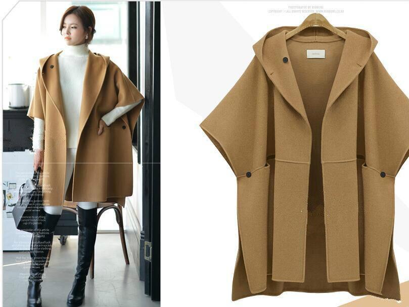 5xl women's clothing Suit dress Cloak Woolen Loose Coat ...