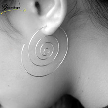 Personality Exaggeration Hollow Circle Rotating Rotary Multilayer Hoop Earring For Women Fashion Jewelry Bijoux Brincos