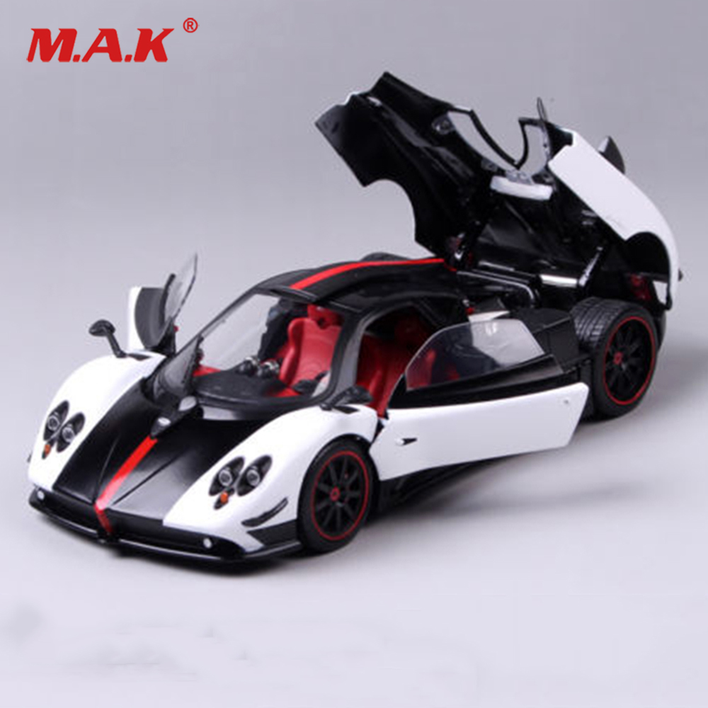 все цены на Kids toys Diecast car 1:18 Scale Pagani Huayra Ghost of the Son Car Vehicles Model Toy cars 1/18 car for collection Collection онлайн