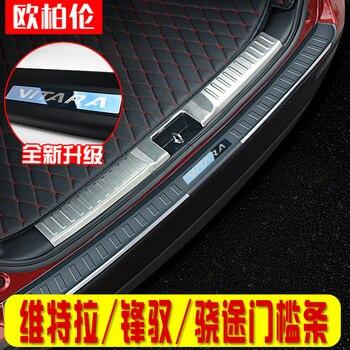Hoge kwaliteit roestvrij staal achter vensterbank panel, achterbumper Protector Sill Voor Suzuki vitara 2015-2016 2017 2018 Auto-styling