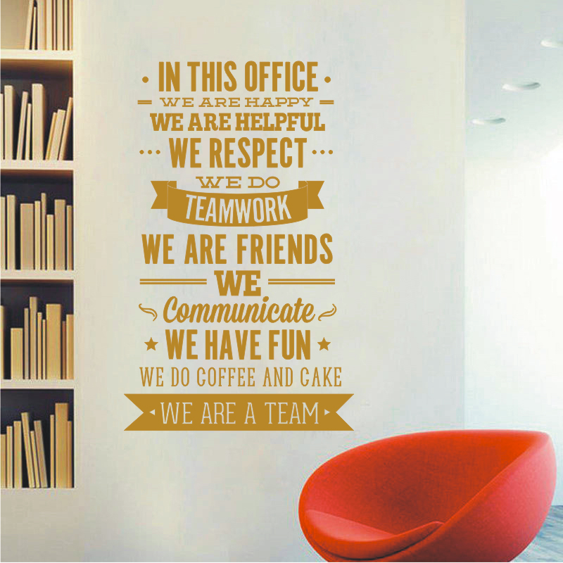 New Fashion Quotes Wall Sticker Office Rules Vinyl Decals - Wall decals 2016