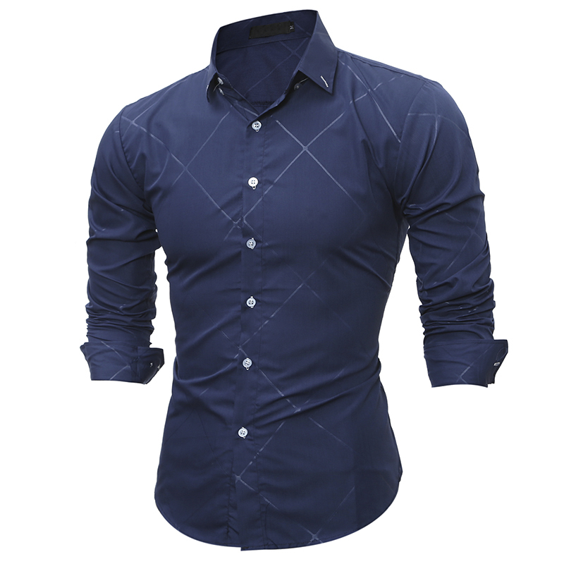 New 2017 Spring Autumn Cotton Dress Shirts High Quality Mens Casual Shirt Casual Men Plus Size XXXL Slim Fit Social Shirts