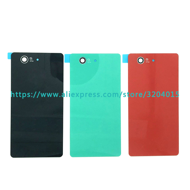 new styles b12bb 850d7 US $1.2 |Replacement high quality For Sony Xperia Z3 Compact Z3 Mini D5803  D5833 Back Housing Battery Cover Door Rear Cover Glass-in Mobile Phone ...