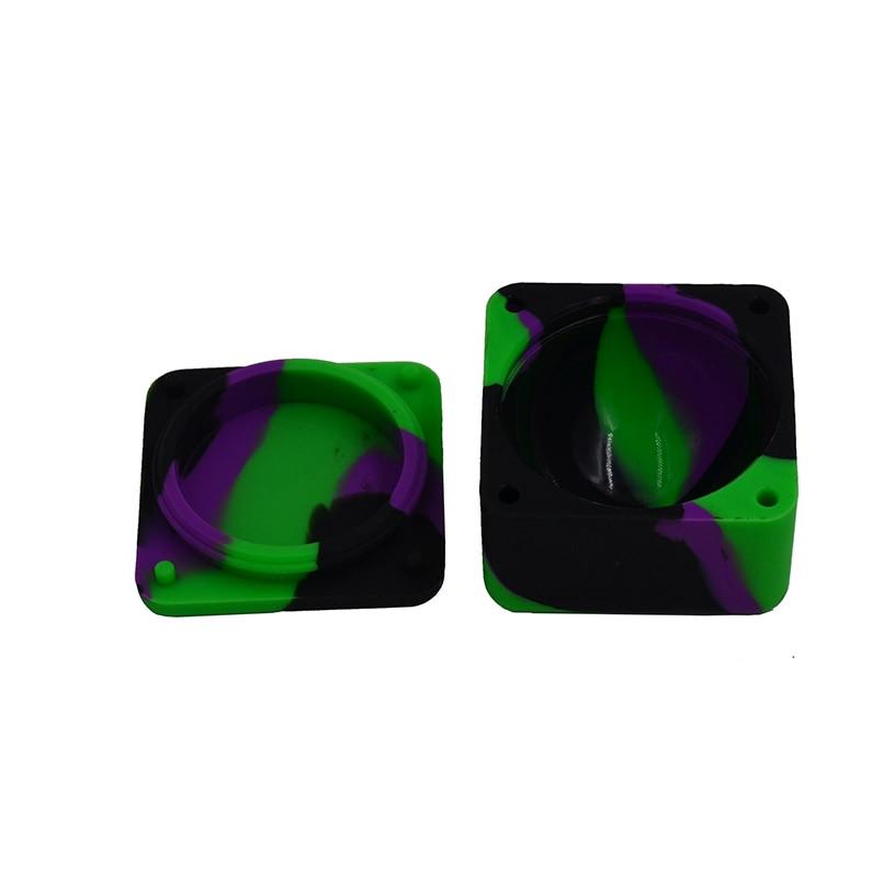 10pcs 37ml Cube FDA cauciuc siliconic ceară / butan / ulei de - Organizarea și depozitarea în casă