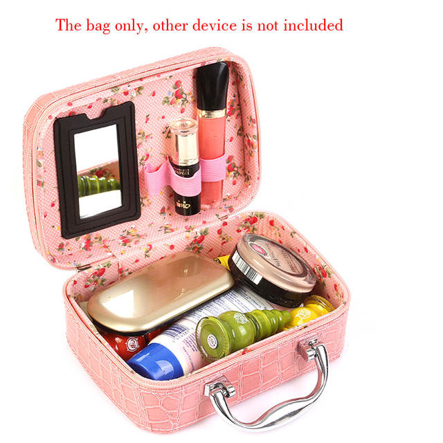 1eb1a74ac061 US $9.48 18% OFF|Fashion Travel Cosmetic Toiletry Bag Makeup Train Storage  Bag Case Jewelry Box Cosmetic Organizer -in Storage Bags from Home & Garden  ...