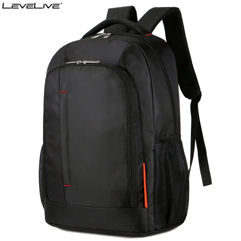 Classic LeveLive Brand Large Capacity Travel Backpack Bag Men's Waterproof 15.6