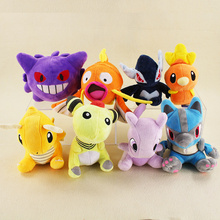 18cm Anime Plush Doll Toys Magikarp Dragonite Lucario Gengar Torchic Lugia Ampharos Mewtwo Plush Action Figures