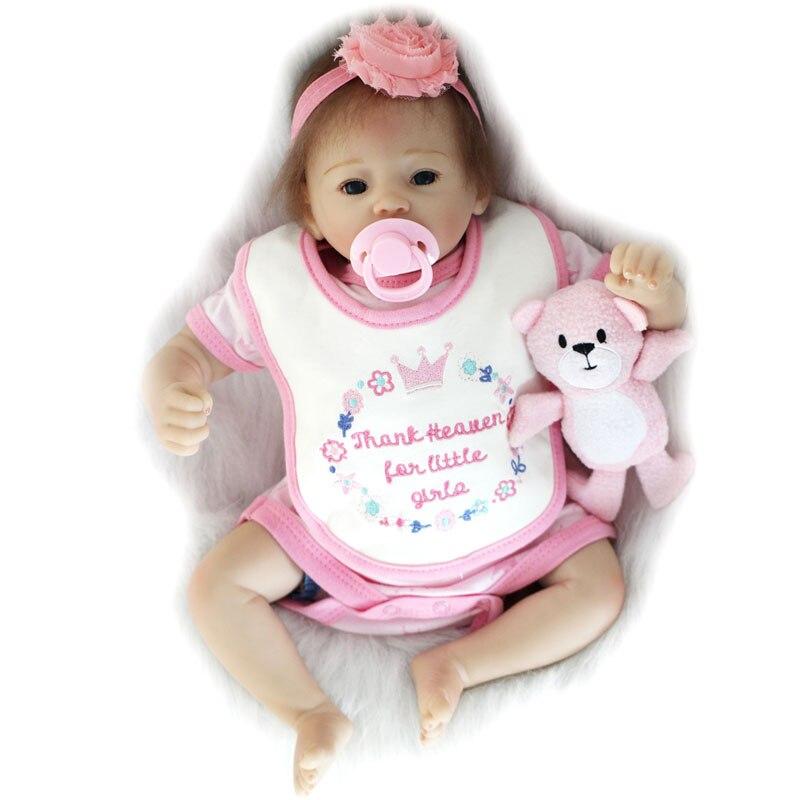 18inch Babies Dolls Silicone adora Lifelike Bonecas Realistic Newborn Realistic Bebe Reborn Dolls For Children Birthday Gift