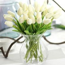 31 шт./лот, искусственные цветы-тюльпаны, искусственные цветы из искусственной кожи Калла, настоящие цветы для свадебного украшения, вечерние украшения для дома