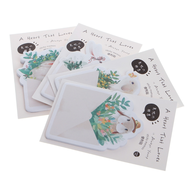 Cute Rabbit Sticky Notes Sticker Post It Bookmarker Memo Pad School Supplies New-PC Friend