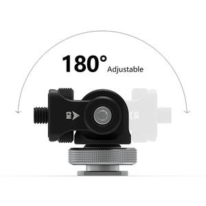 Image 2 - Monitör braketi standı 180 derece döndürülmüş monitör montaj tutucu soğuk ayakkabı ile Video ışıkları mikrofon DSLR VideoMaker Vlogger