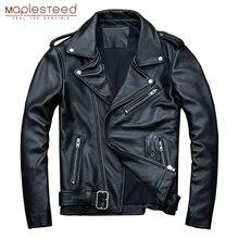 Mapesteed классические мотоциклетные куртки, мужская кожаная куртка, натуральная телячья кожа, толстая мотоциклетная куртка, Мужская Байкерская зимняя куртка M192