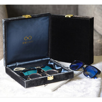 High Quality Luxury Sunglasses Display Case Soft Glasses Organizer Eyewear Storage Jewelry Display Box Silks and Satin Case