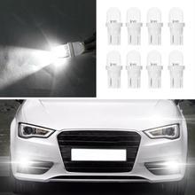 8Pcs/set 12V 5W T10 W5W White LED Side Car Light Lamp Bulb