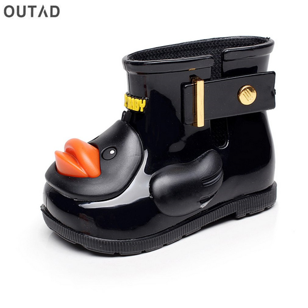 Clearance Toddler Kids Baby Waterproof Rain Shoes Anti-Slip Durable Rubber Boots Cartoon Duck Water Shoes