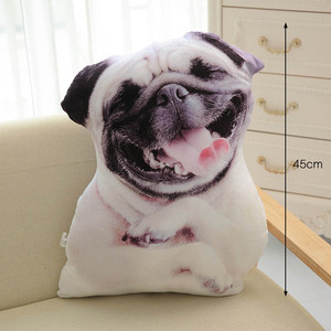 Image 5 - CAMMITEVER 50 см Милая имитация собаки плюшевая игрушка 3D печать Мягкое Животное фотография диван игрушки Подушка для сна