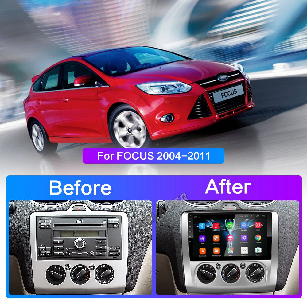 Image 5 - 2 DIN 9 Inch Android 8.1 GPS Navigation Touchscreen Quad core Car Radio For Ford Focus Exi AT2004 2005 2006 2007 2008 2009 2011-in Car Multimedia Player from Automobiles & Motorcycles