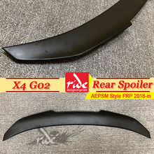 X4 G02 Rear Spoiler Wing Tail FRP Unpainted PSM Style Fits For BMW Series rear trunk wing Lip Car Styling 2018-in