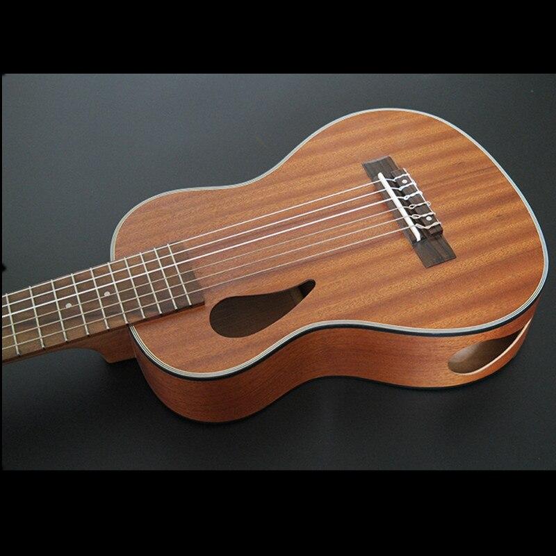 Ukulélé SevenAngel 28 pouces 6 cordes guitare hawaïenne Ukelele Sapele Uku instrument de musique ukulélé électrique avec micro EQ - 2