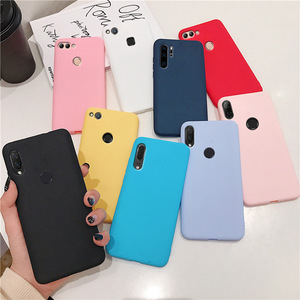 Image 5 - matte silicone phone case on for huawei P smart plus p20 p30 p8 p9 p10 lite 2017 2018 2019 candy color soft tpu back cover funda
