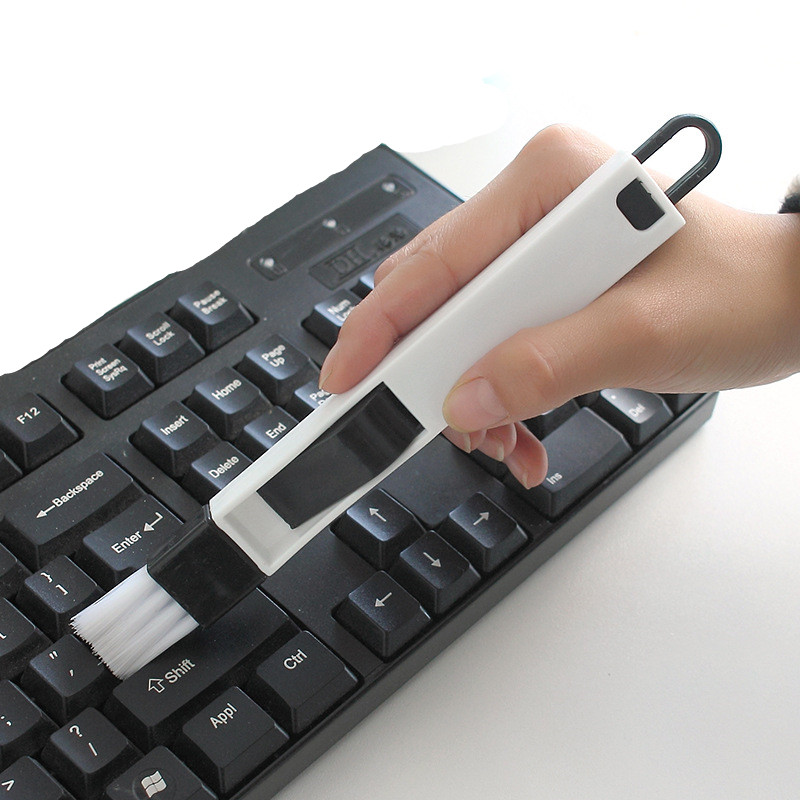 1pc Multipurpose School Office Desk Set Computer Keyboard Cleaning Brush Cleaner 2 In 1 Stationery Tool