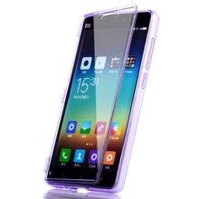 Xiaomi Mi4C Чехол Флип Силиконовые ТПУ Сенсорный Экран Прозрачная Крышка МИ 4C Коке Fundas Полный Протектор Сумка Случаи Прозрачный Carcasa