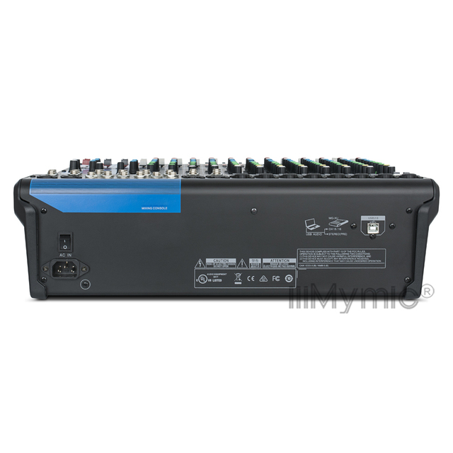 Professional 16XU Audio Mixer 16 Channel Input and USB Interface Analog Mixer With Compression and Effects LN for Stage DJ