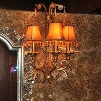 Wrought Iron Wall Lamp Hot Selling Fashion 88 Bar Lights 3 Wall Lamp