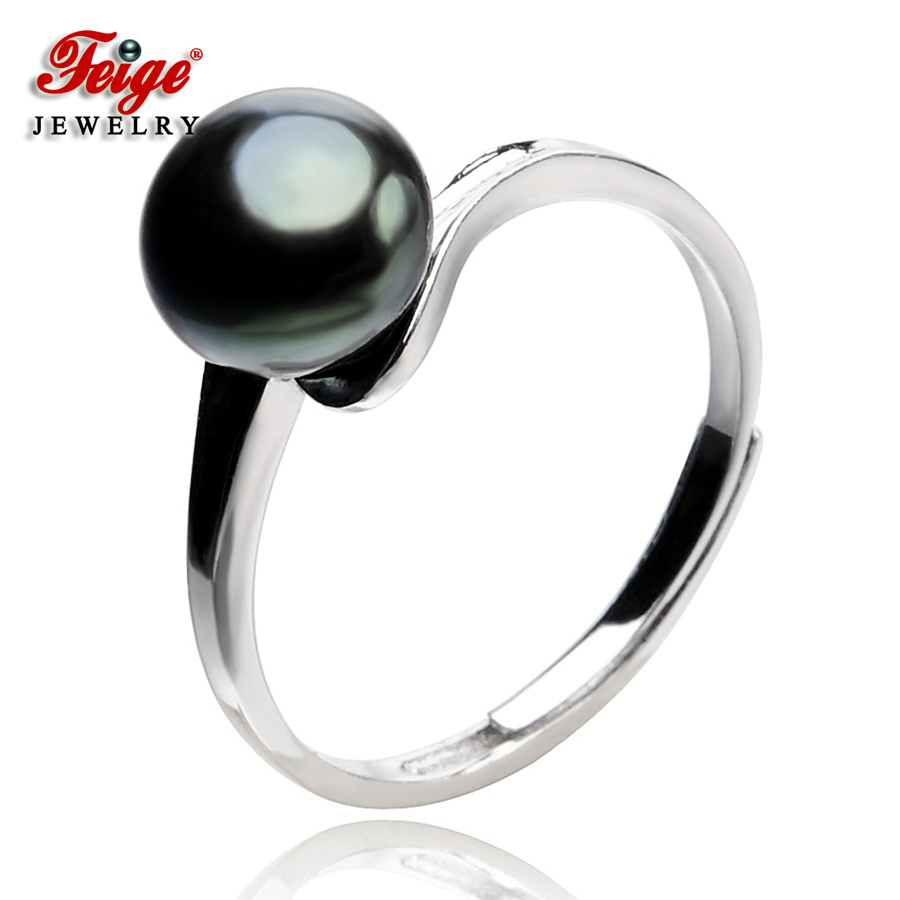 Feige Vintage Style 100% 925 Sterling Silver Pearl Ring For Women Genuine  78mm