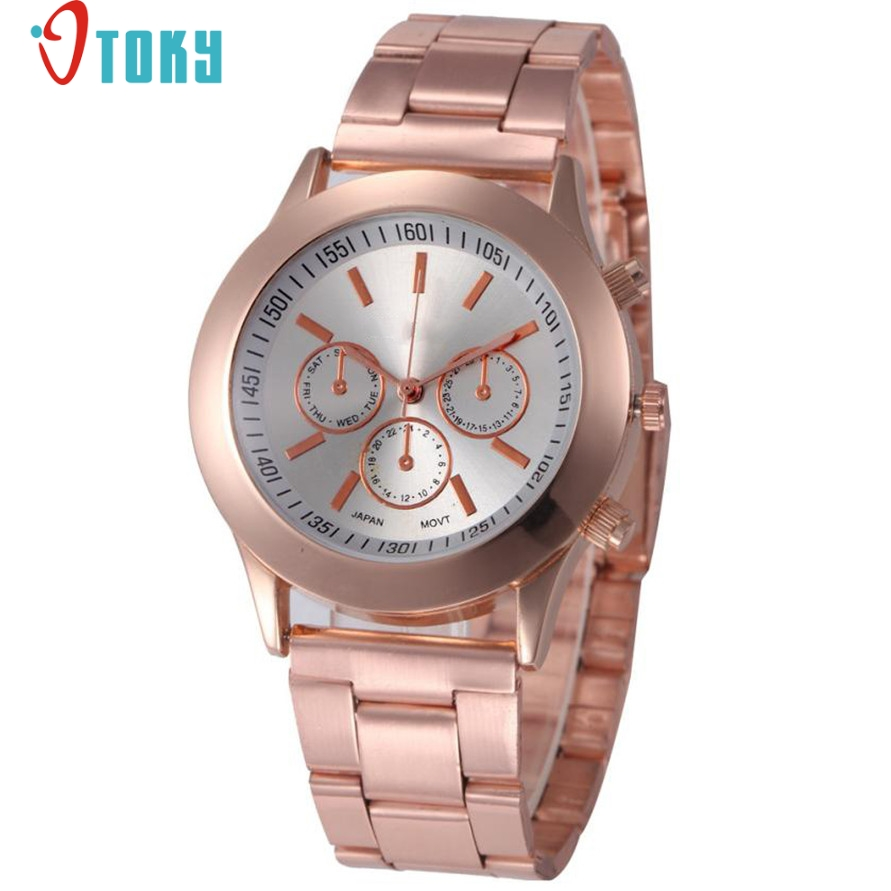 Relogio OTOKY Willby Wome Classic Gift Watch Rose Gold Quartz Wrist Watches 170306 Drop Shipping