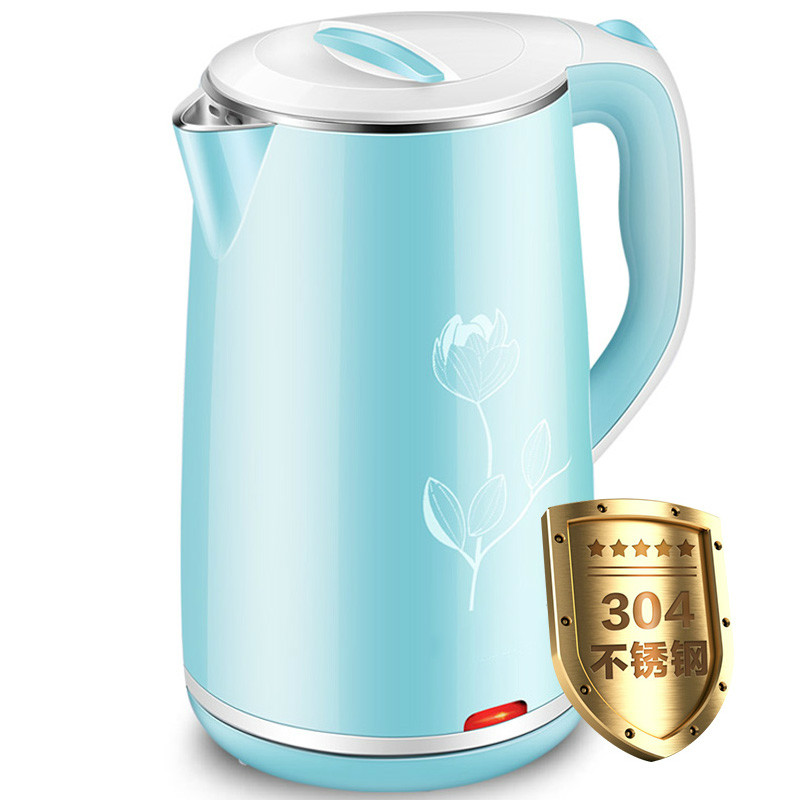 Electric kettle 304 stainless steel water boiler home electric Overheat Protection hot insulated double layer proof electric kettle anti dumping stainless steel kettles overheat protection