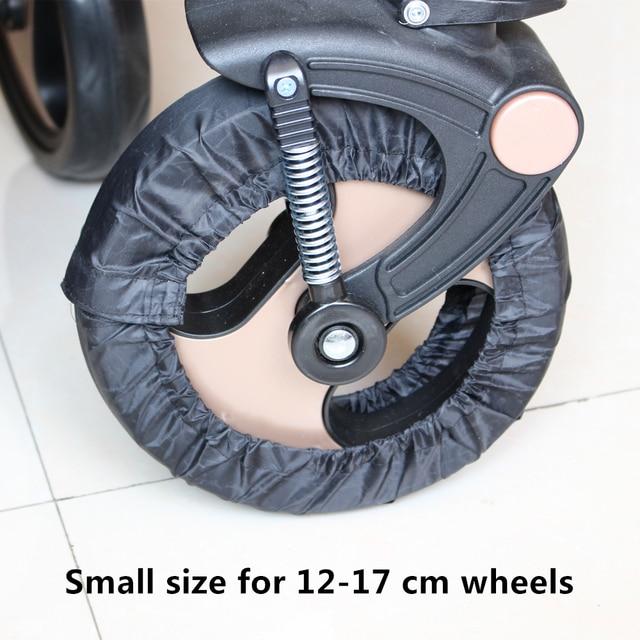 2 Stks Kinderwagen Accessoires Wielen Covers voor 12-29 CM Rolstoel Kinderwagen Kinderwagen Troon Kinderwagen Poussette 1