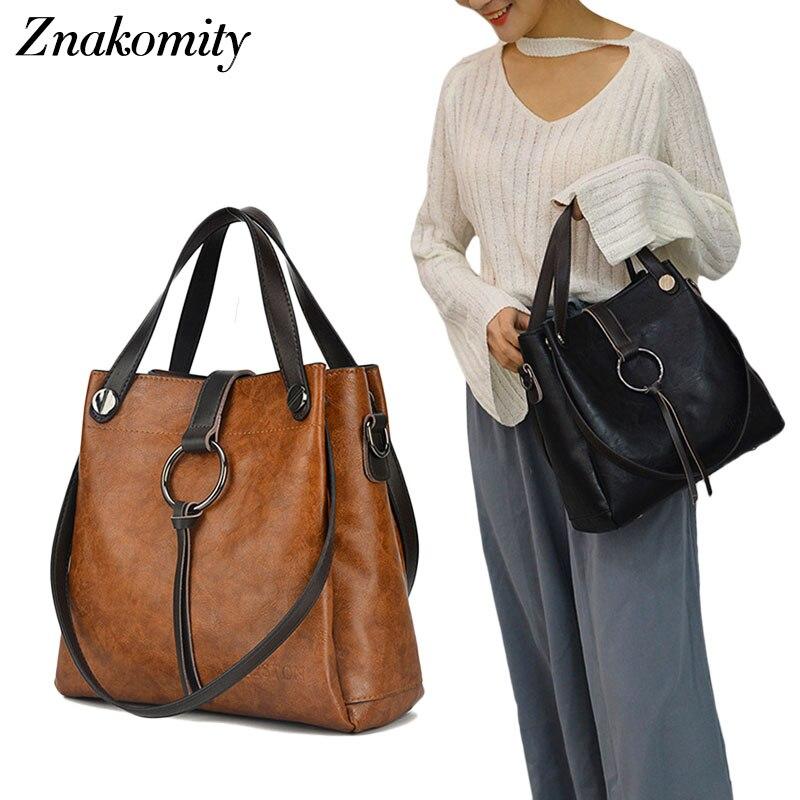 Znakomity Sacs À Main de femmes véritable sac à bandoulière en cuir sac pour femme vintage grand Grand Noir brun fourre-tout croix sacs à main pour femmes